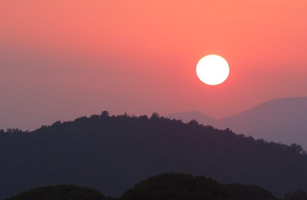 toscane ondergaande zon hoger
